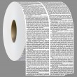 Постер, плакат: Newspaper columns shaped in toilet roll