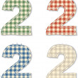 Checkered linen fabric numbers 2 — Stock Vector #43889451