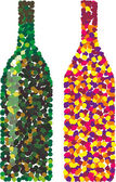Vector confetti in form of wine bottles — Stock Vector