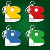 Vector letters form of sport footwear B — ストックベクタ