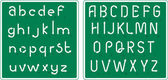 Abstract traffic signs font. — Wektor stockowy