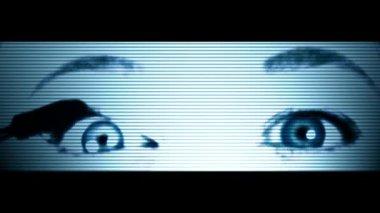 Atrás do espelho — Vídeo Stock