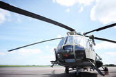 The helicopter in airfield  — Stock Photo