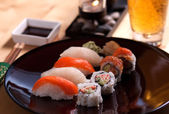 Delicious sushi meal — Stock Photo