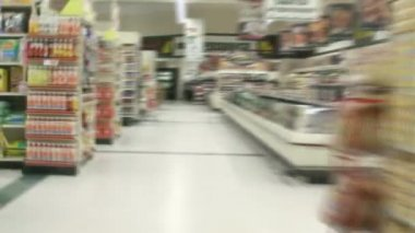 Perspective from a shopping cart — Stock Video