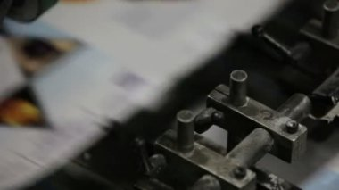 A professional printing press in action — Stock Video