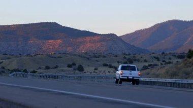 Desert road — Stock Video