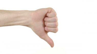 Ręka z kciuk w — Wideo stockowe