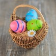 Basket full of easter eggs 03 — Stock Photo