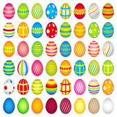 48 colourful easter eggs — Stock Photo
