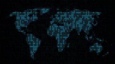 Binary Code - World Map (II) — Stock Video