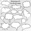 Set of comic speech bubbles — Stock Photo