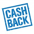 Cash back stamp in blue — Stock Photo #47119321