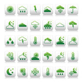 Illustration of weather icons on white background — Foto de Stock