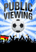 Public viewing flyer - blue — Stock Photo