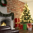Interior of living room in christmas - Shot 02 — Stock Photo