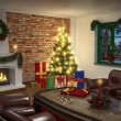 Interior of living room in christmas - Shot 01 — Stock Photo #51336559