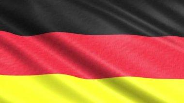 Μια σημαία του germnay στον άνεμο — Video Stock