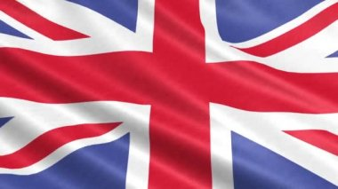 A flag of the United Kingdom in the wind — Stock Video