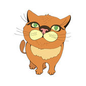 Funny red cat — Stock Vector