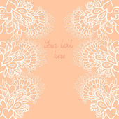 Greeting card with different flowers . — Vettoriale Stock