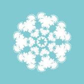 Round fluffy pattern.Christmas snowflake. — Stock Vector