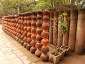 Wall from pottery — Stock Photo