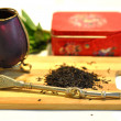 Fresh exotic black tea — Stock Photo