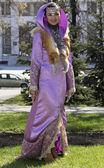 Girl in costume Bashkir — Stock Photo