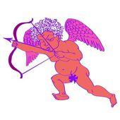 Cupid retro — Stock Vector