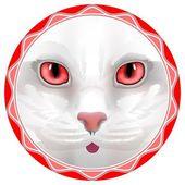 Cat circle — ストックベクタ