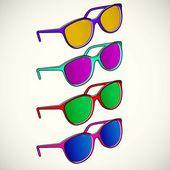 Sun glasses color — Stock Vector
