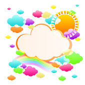 Art sky color — Stock Vector