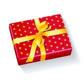 Box present holiday xmas — Stockvektor