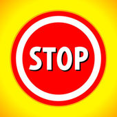 Stop sign. Vector illustration. — Stock Vector