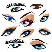 Symbolic abstract eyes. Vector — Stock Vector