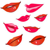 Print of red lips. — Stock Vector