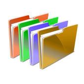 Folder. Vector illustration. — Stock Vector