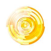 Vecteur de fond abstrait demi-teinte cercle — Vecteur