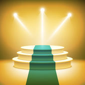 Illuminated stage podium for award ceremony vector  — Stock Vector