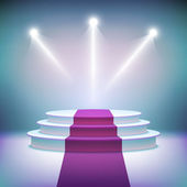 Illuminated stage podium for award ceremony vector  — Stock Vector