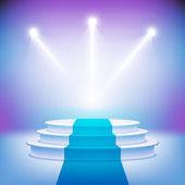 Podio palco illuminato per vettore di cerimonia del premio — Vettoriale Stock