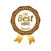 Luxe gouden premium kwaliteit beste keuze etiketten instellen geïsoleerde vectorillustratie — Stockvector