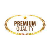 Luxury golden premium quality best choice labels set isolated vector illustration  — Stock Vector