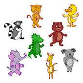 ícone da ilustração selvagem do vetor eps10 mão-extraídas dos desenhos animados vetor arquivo — Vetor de Stock