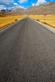 Long straight road to the infinite — Stock Photo