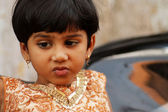 Indian cute small girl — Stock Photo