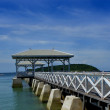 AsDang Bridge at Koh Si Chang Island, the summer palace of King Chulalongkorn (Rama V), Koh Sichang is a small quiet island and quite popular and not far from Bangkok,Thailand — Stock Photo