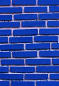 Texture of blue grunge brick wall , Brick walls blue on a white background — Stock Photo