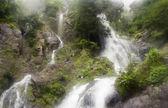 Waterfall in deep forest, national park, Saraburi, Thailand — Stock Photo